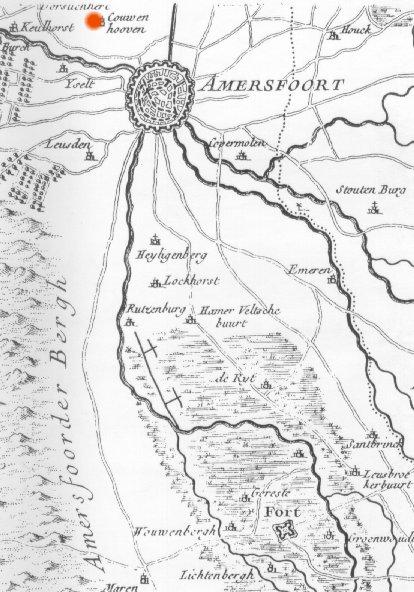 The Tree of Life MAP of AMERSFOORT NETHERLANDS 1625