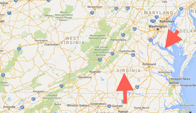Slide 3: This is Westmoreland. This is Virginia.